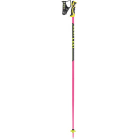 LEKI Worldcup SL TBS Bastoncini da sci, pink/black/white/yellow